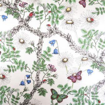 Skapa en lekfull och inbjudande miljö i ditt hem med Summergarden tyg från svenska Boel