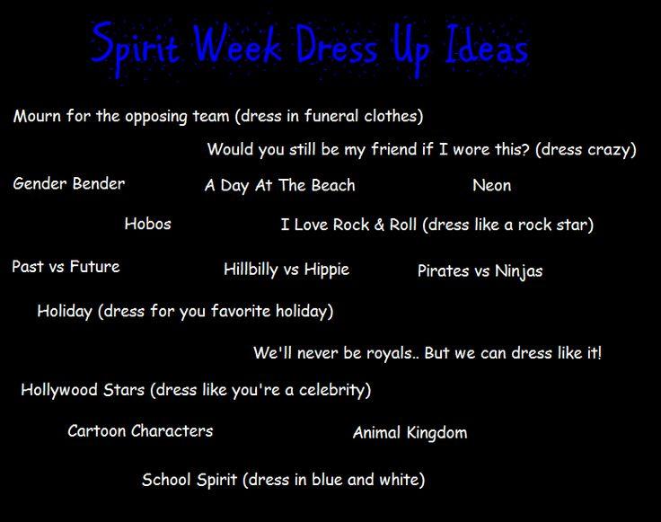 spirit week ideas   Share
