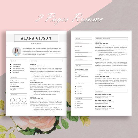 resume template professional and creative design    cv for