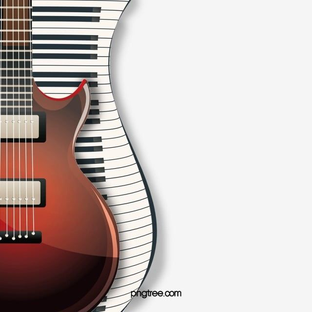 Fashion Electric Guitar And Piano Keyboard Fashion Electric Guitar Piano Keyboard Png Transparent Clipart Image And Psd File For Free Download Electric Guitar Vector Patterns Design Guitar