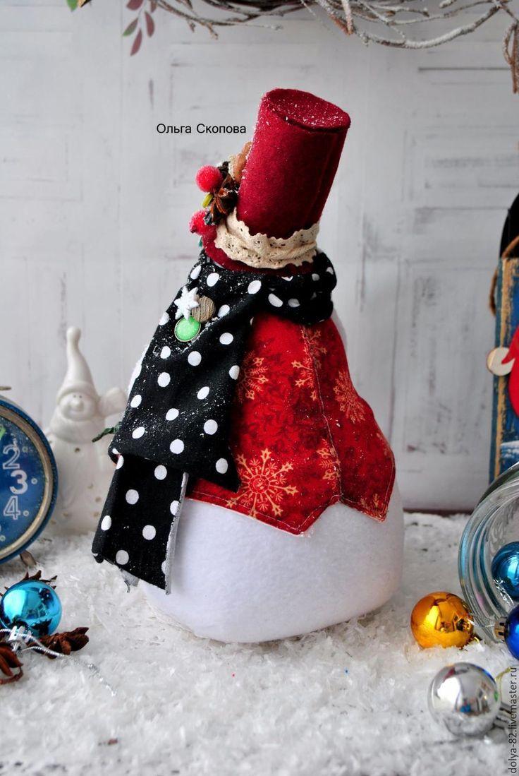 Купить Снеговик. Снеговик. Снеговик- хозяюшка) - снеговичок, снеговик тильда, снеговик, снеговики, ольга скопова