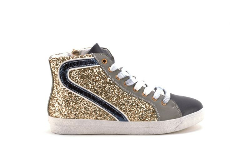 Scarpe Donna GOLD AND GOLD Sneakers donna con paillettes Blu
