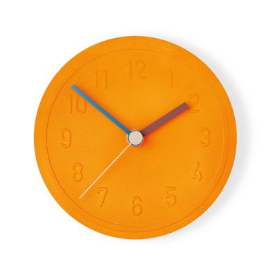 Die besten 25+ Orange wanduhren Ideen auf Pinterest 50er deko - schöne wanduhren wohnzimmer
