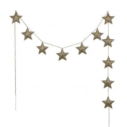 Mini stars garland - golden Gold  Numero 74