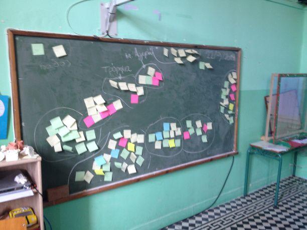 Δημοτικό Σχολείο Φουρφουρά: Τα πολύχρωμα χαρτάκια (post it)
