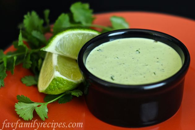 Cafe Rio / Costa Vida Cilantro Ranch Dressing. So good on our Cafe Rio copycat salad! Find all our yummy pins at https://www.pinterest.com/favfamilyrecipz/