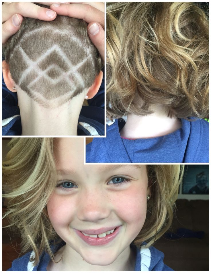 Undercut Nape Shave Design Girls Haircut In 2019 Half