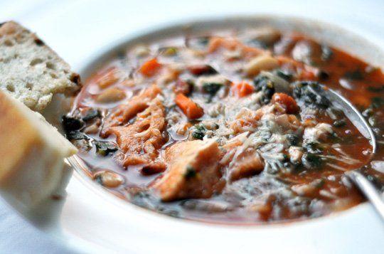 Italian Bread & Tomato Soup (Ribollita)