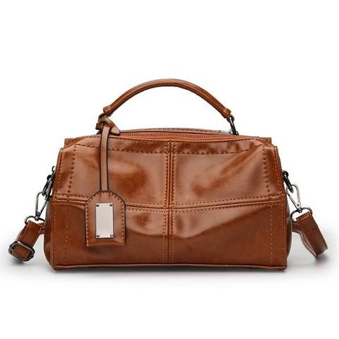 Women PU Leather Handbag Retro Oil Leather Crossbody Bag in 2018 ... 3801a6f2b4b37