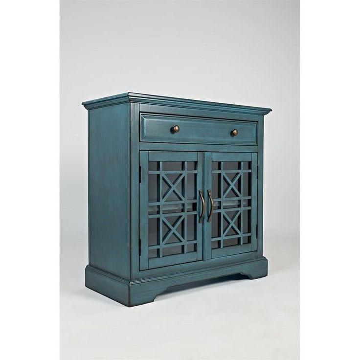 Best Jofran Craftsman One Drawer Accent Chest In Antique Blue 400 x 300