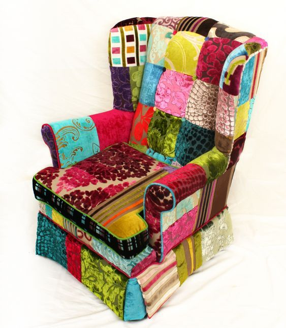 Patchwork Covered Furniture | Patchwork Furniture / Kinsale Wingback Chair