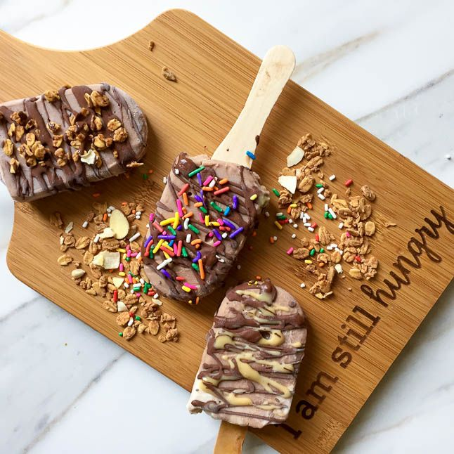 Chocolate Protein Pops with EAS Protein Powder   adoubledose.com