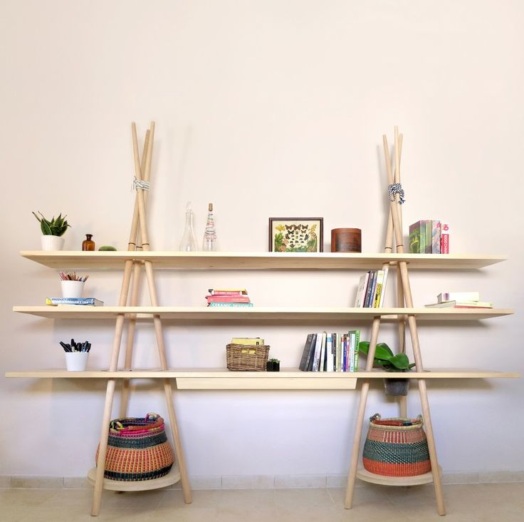 Tipi bookcase Insightful Tipi Modular Shelving System Evoking the Spirit of Traveling