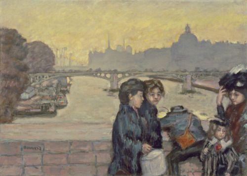Pont du Carrousel - Pierre Bonnard, 1903  French,1867-1947  Oil on canvas, 72,39 cm x 99,38 cm.