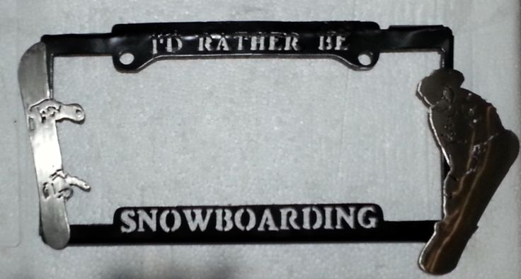 I'd like to be Snowboarding license plate frame.