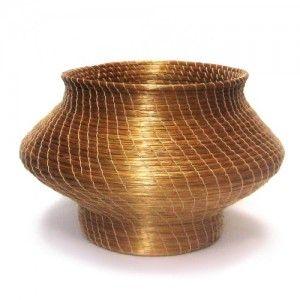Pot/ Vase/ Vaso  – Capim Dourado – TO Artesanato brasileiro