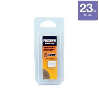 Freeman P23-1 1 in. 23-Gauge Glue Collated Pin Nails 2000 Per Box