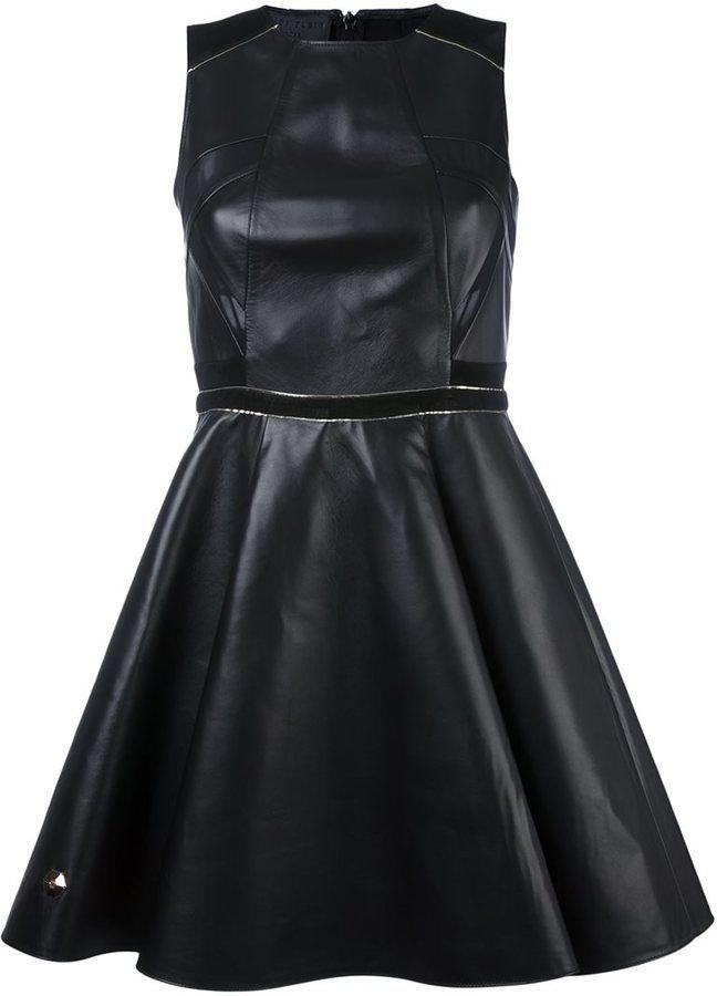 Philipp Plein 'Fierce' dress, Leather Dress, schwarz, black, Leder Outfits, Ledermode, Leather, Fashion, Dress