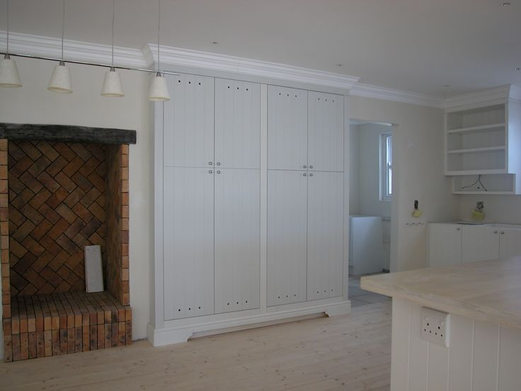 New kitchen for a holliday house renovation in paternoster, hand painted supawood (MDF) units with Caesar stone tops.