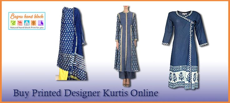 Buy Printed Designer Kurtis online  Bagru hand block provides better sevices and quality product from truesed seller......... know more www.bagruhandblock.com