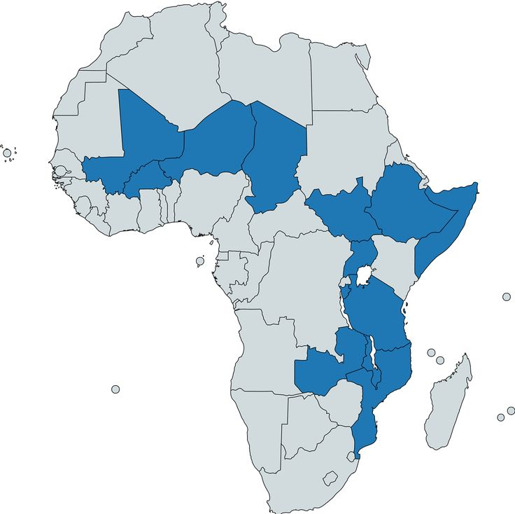 African countries, where more than 50% of population is below 18 years old.
