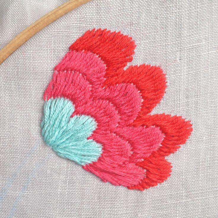 Sarita creative: Tutorial: Otomi Embroidery stitch
