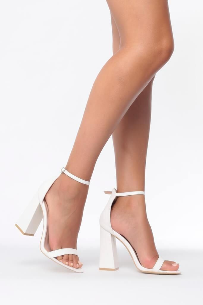 Heel White 2019 Block Shoe SandalProm In Owk0P8nX