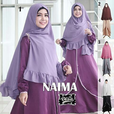Naima Syar'i by @diza_collection @diza_collection @diza_collection  Simpel Is Beautiful  Status : Ready Bahan : Satin Velvet  Khimar Amuzen LD : 100cm PB : 140cm Busui  Wudhu Friendly  ecer 220rb seri @200rb  Contac Us  Bbm : 5ADE2986 WA : 0877-8822-4427 . . Follow @diza_collection  . .