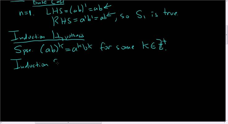 Principle of Mathematical Induction (ab)^n = a^n*b^n Proof