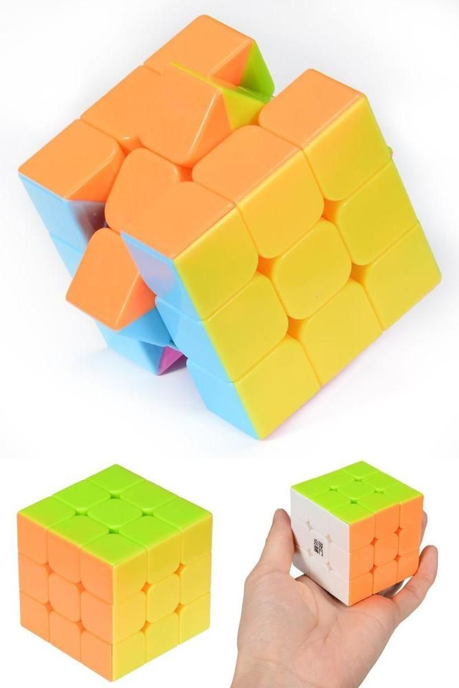 ICYMI: Small 3x3x3 Rubiks Cube Bright Colors Smooth Puzzle Stickerless Twist Gift Toy