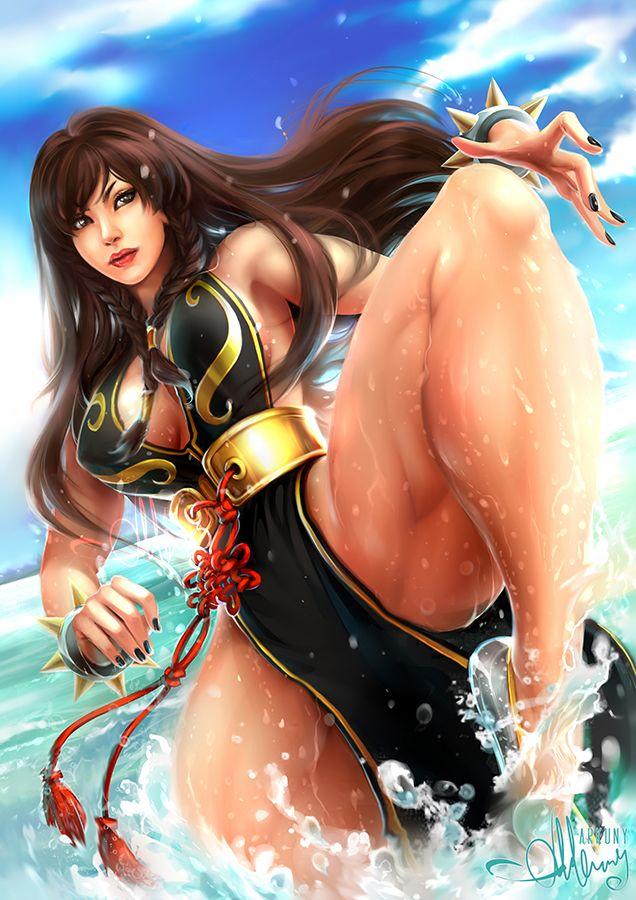 Commission Chun Li For Justhero By Arkuny Chun Li Chun Li