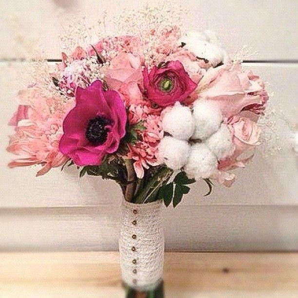 Нежнейший розово-хлопковый букет  www.lacybird.ru/ #flowers #bouquet