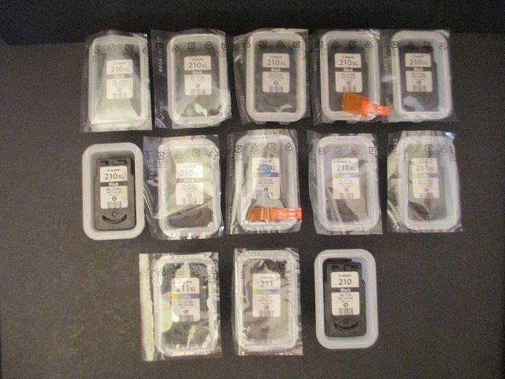 Lot of 13 Canon 210XL/210/211XL/211 Empty Virgin Ink Cartridges #Canon