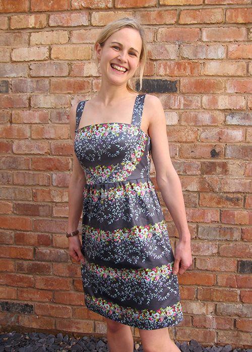 Colette Hazel Dress - made to take advantage of stripes