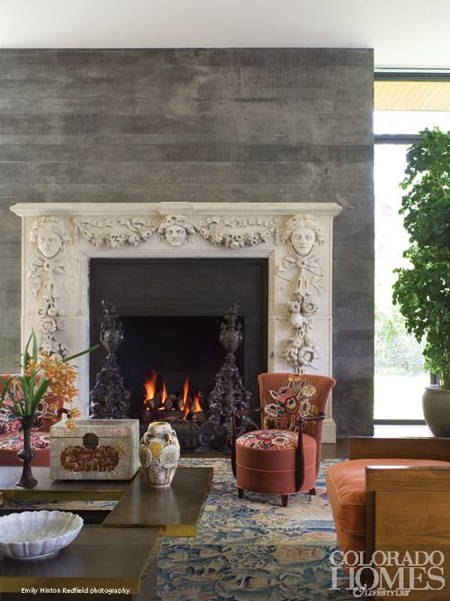 fantastic fireplace surround and wall designer richard lee in colorado homes u0026 lifestyles
