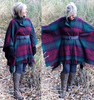 DIY Wool blanket coat // Csinos meleg téli poncsó (kabát) gyapjú pokrócból egyszerűen // Mindy - craft tutorial collection