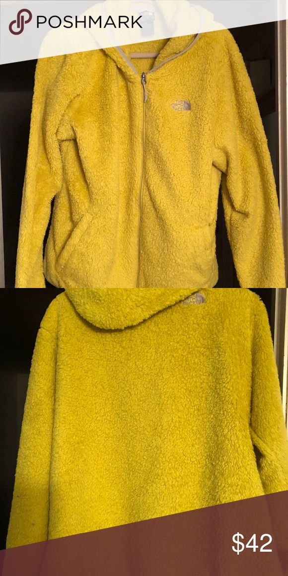 North face jacket Really cool and rare muted yellow NORTH FACE jacket. Worn only a few times!! North Face Jackets & Coats