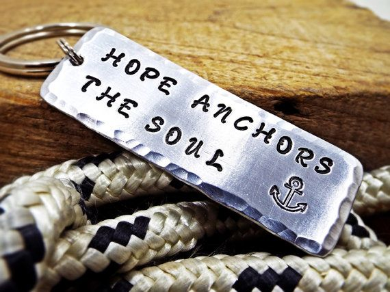 Hope Anchors The Soul  Nautical Keychain  FREE by Aluminiopassions