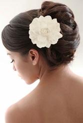 """15"""" White Gardenia Flower Hair Clip for $12.00"""