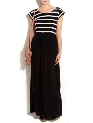 Tall Black Voile Maxi Skirt |