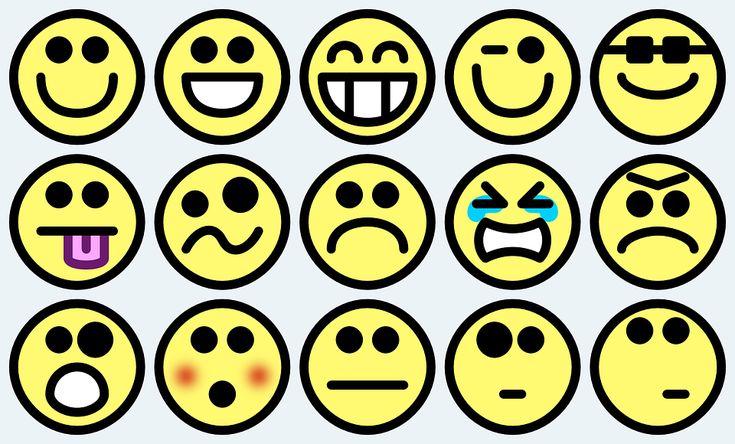 Emotikony, Smajlíky, Smajlíci, Veselý Obličej, Drobné