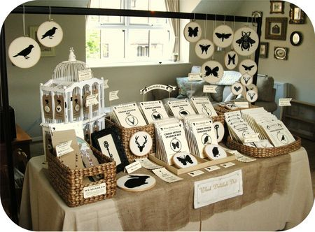 from What Delilah Did; lovely table display for a craft show!  Strong colour story, clutter free.