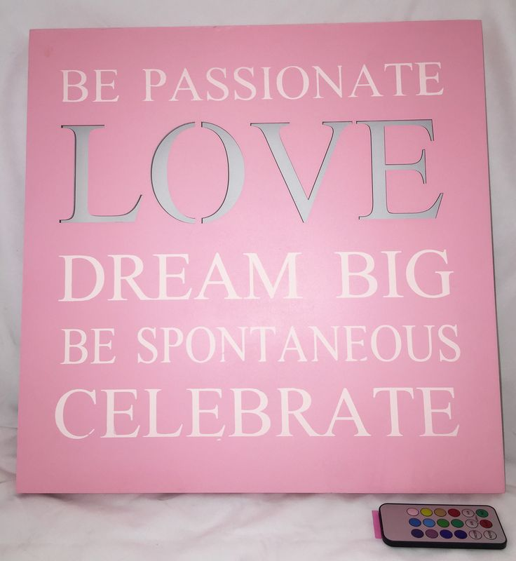 Be Passionate Love Dream Big Be Spontaneous Celebrate Battery Operated Lighted Sign Wall Decor