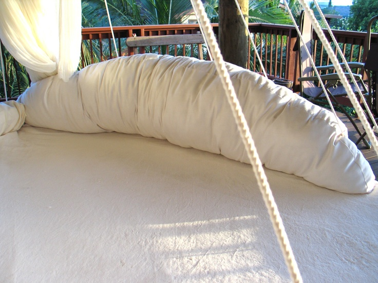 17 best images about hammock on pinterest backyards for Round hanging porch bed