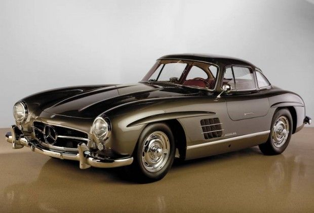 One of my fav classic cars: 1955 Mercedes 300 SL Graphite Grey