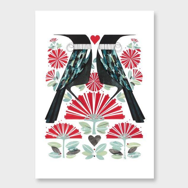 Aroha Nui Art Print by Holly Roach NZ Art Prints, Design Prints, Posters & NZ Design Gifts | endemicworld