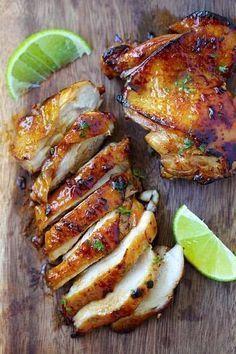 recette rapide à faire de poulet au miel et au citron