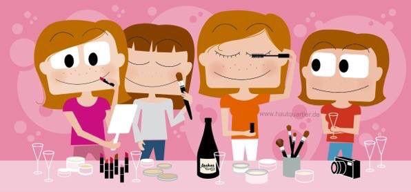 #makeup #schminke #make-Up-Workshop Am 8.Juli 2016 findet die Makeup Party im hautquartier statt. Mehr Infos unter www.hautquartier.de