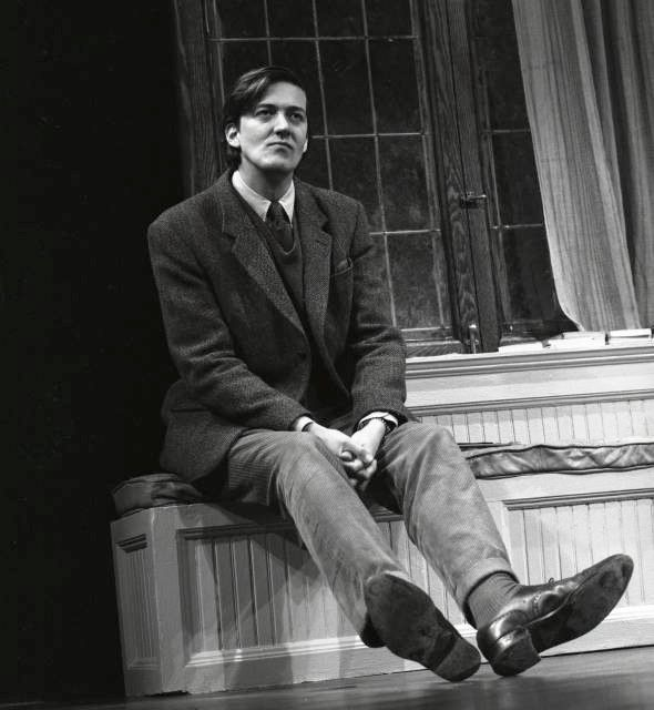 A gorgeous and youthful Stephen Fry. I don't often wish to be a gay man nearly twice my age, but it's the only way I'd have a chance! That said, Stephen himself does admit he's only 90% gay so maybe there is a ray of hope there somewhere!