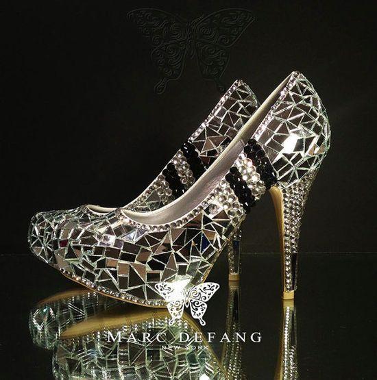 Espectaculares zapatos de novia  wedding #shoes